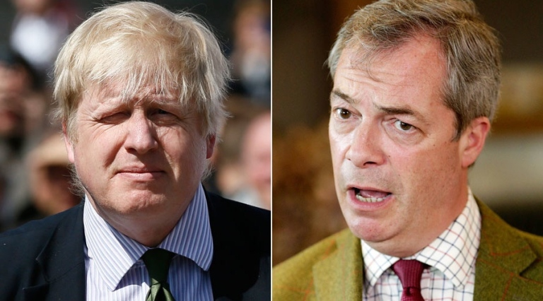 Wanted: Boris Johnos und Nigel Farage
